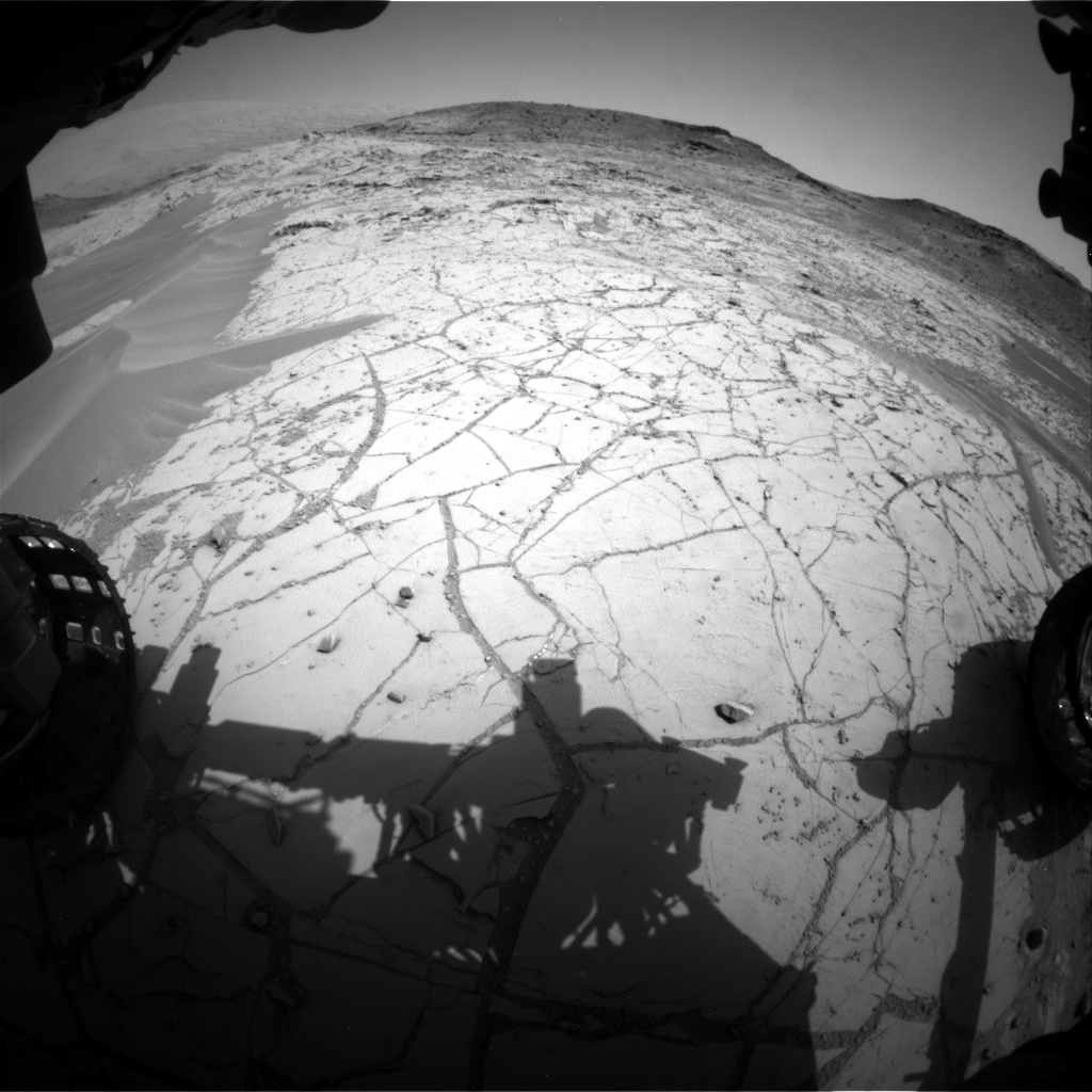 Nasa's Mars rover Curiosity acquired this image using its Front Hazard Avoidance Camera (Front Hazcam) on Sol 753, at drive 1020, site number 42