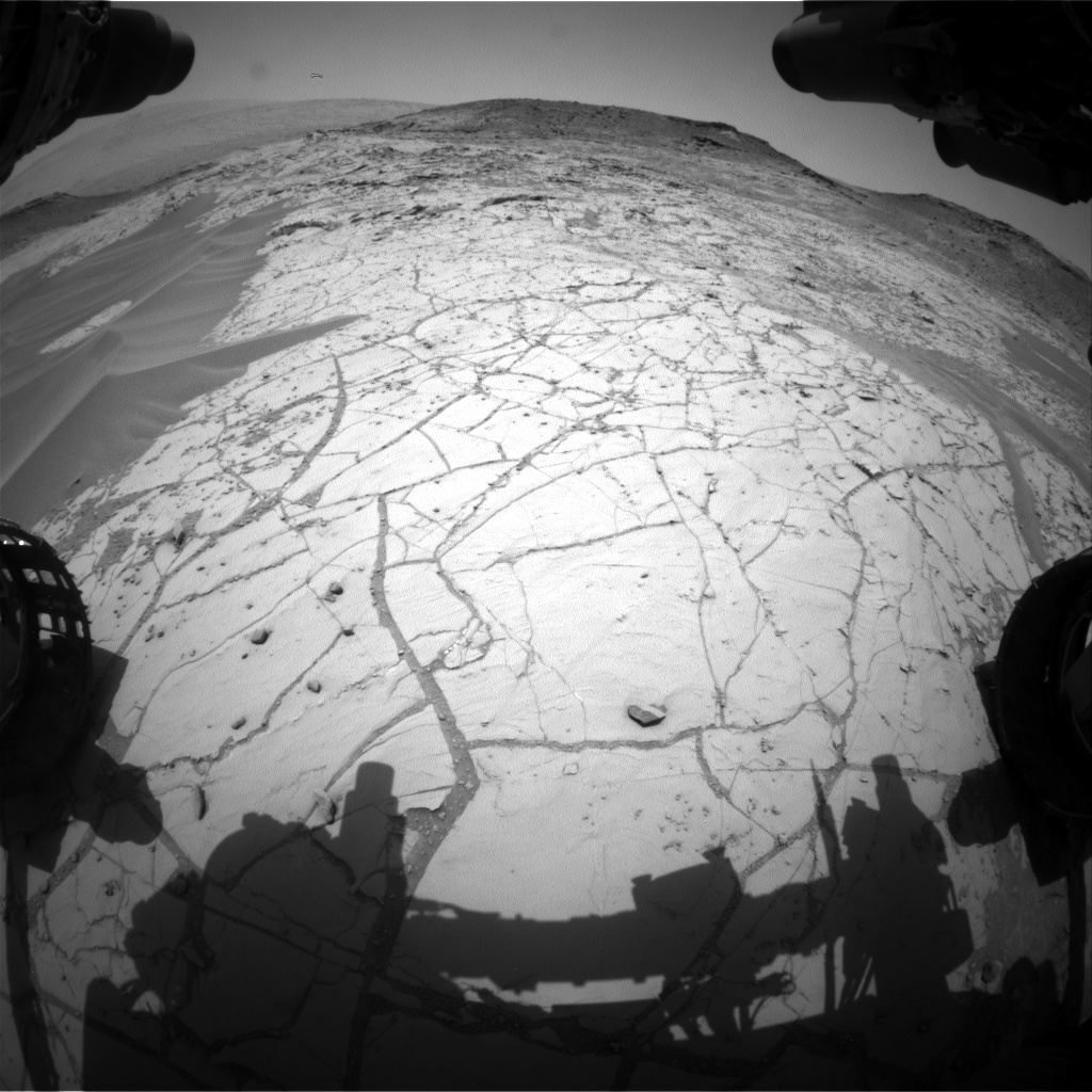 Nasa's Mars rover Curiosity acquired this image using its Front Hazard Avoidance Camera (Front Hazcam) on Sol 754, at drive 1020, site number 42