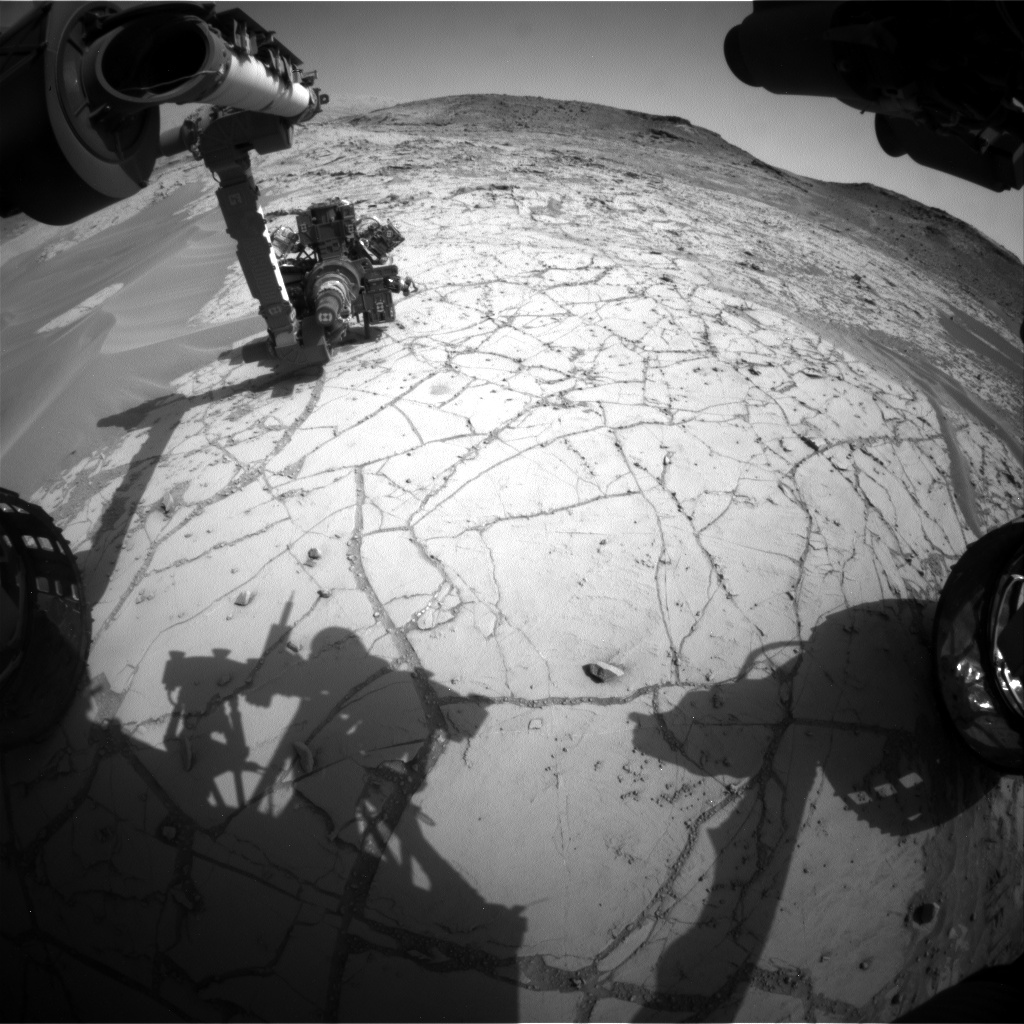 Nasa's Mars rover Curiosity acquired this image using its Front Hazard Avoidance Camera (Front Hazcam) on Sol 756, at drive 1020, site number 42