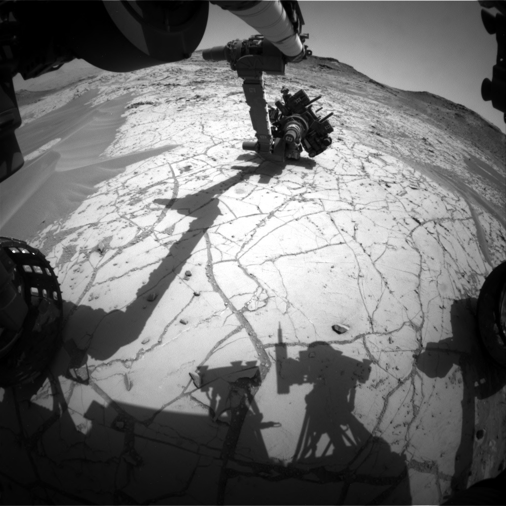 Nasa's Mars rover Curiosity acquired this image using its Front Hazard Avoidance Camera (Front Hazcam) on Sol 758, at drive 1020, site number 42