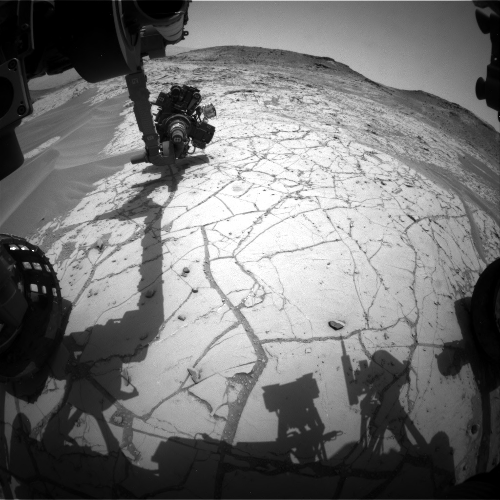 Nasa's Mars rover Curiosity acquired this image using its Front Hazard Avoidance Camera (Front Hazcam) on Sol 759, at drive 1020, site number 42