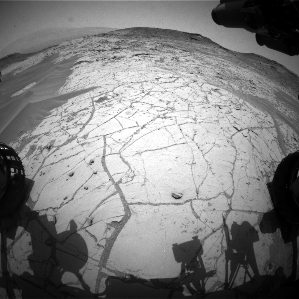 Nasa's Mars rover Curiosity acquired this image using its Front Hazard Avoidance Camera (Front Hazcam) on Sol 760, at drive 1020, site number 42