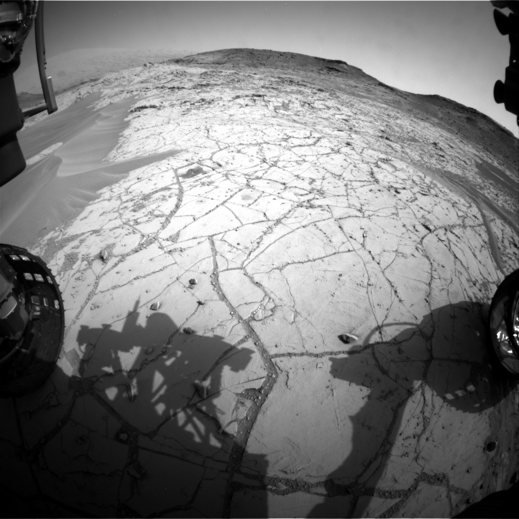 Nasa's Mars rover Curiosity acquired this image using its Front Hazard Avoidance Camera (Front Hazcam) on Sol 761, at drive 1020, site number 42