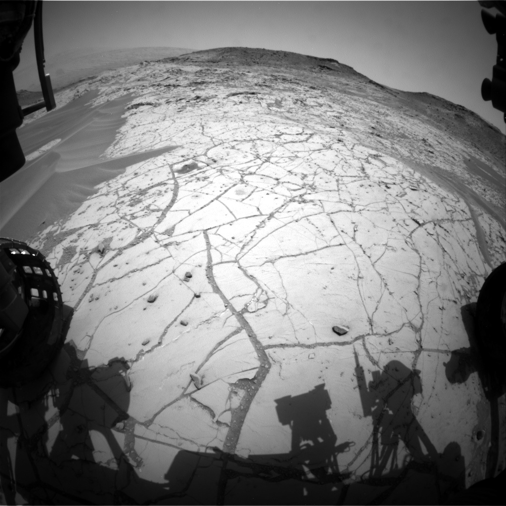Nasa's Mars rover Curiosity acquired this image using its Front Hazard Avoidance Camera (Front Hazcam) on Sol 762, at drive 1020, site number 42