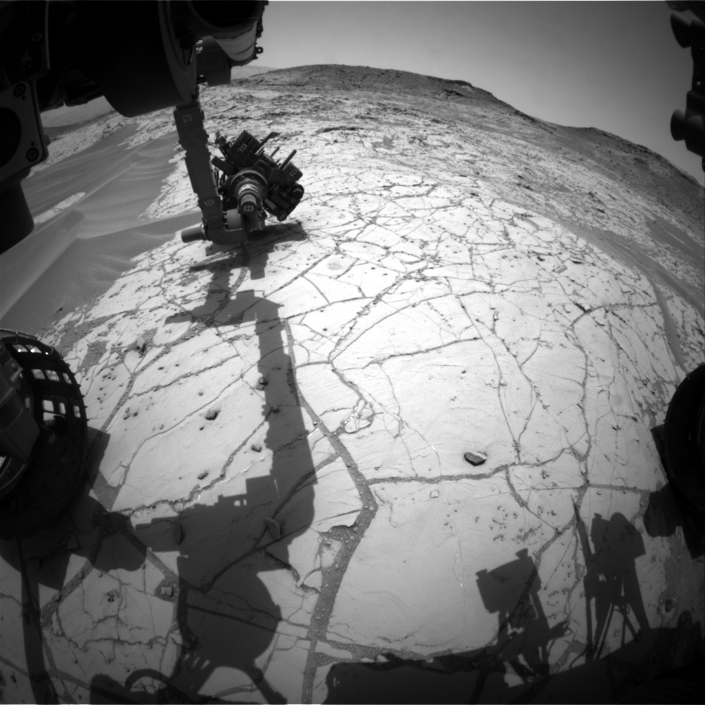 Nasa's Mars rover Curiosity acquired this image using its Front Hazard Avoidance Camera (Front Hazcam) on Sol 763, at drive 1020, site number 42