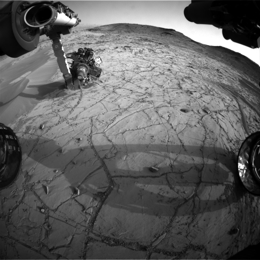 Nasa's Mars rover Curiosity acquired this image using its Front Hazard Avoidance Camera (Front Hazcam) on Sol 765, at drive 1020, site number 42