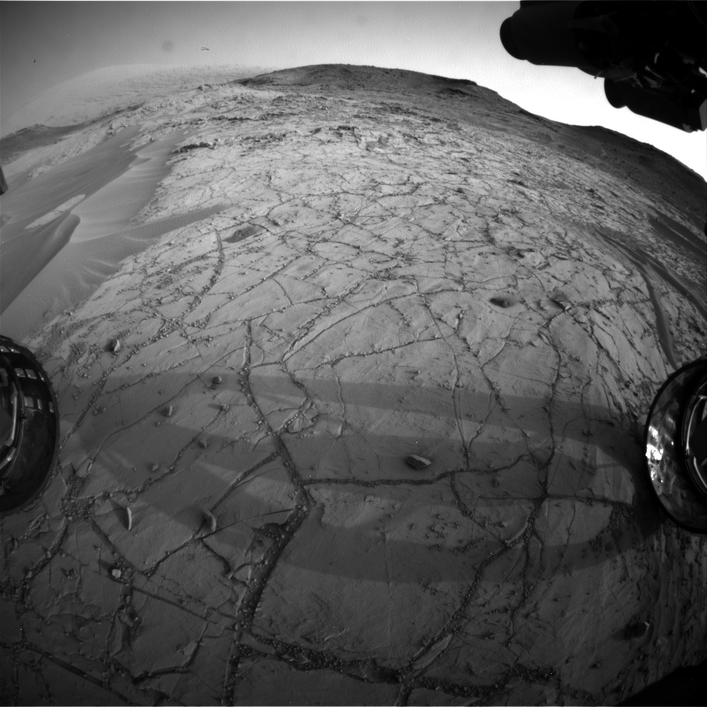 NASA's Mars rover Curiosity acquired this image using its Front Hazard Avoidance Cameras (Front Hazcams) on Sol 765
