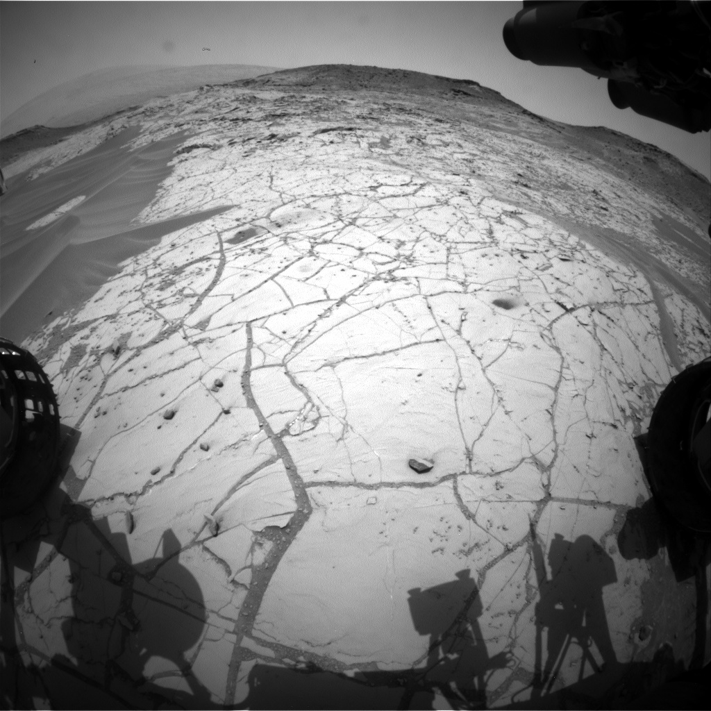 Nasa's Mars rover Curiosity acquired this image using its Front Hazard Avoidance Camera (Front Hazcam) on Sol 766, at drive 1020, site number 42