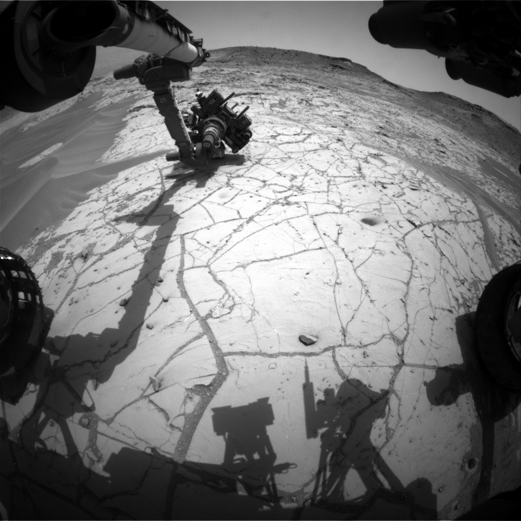 NASA's Mars rover Curiosity acquired this image using its Front Hazard Avoidance Cameras (Front Hazcams) on Sol 767