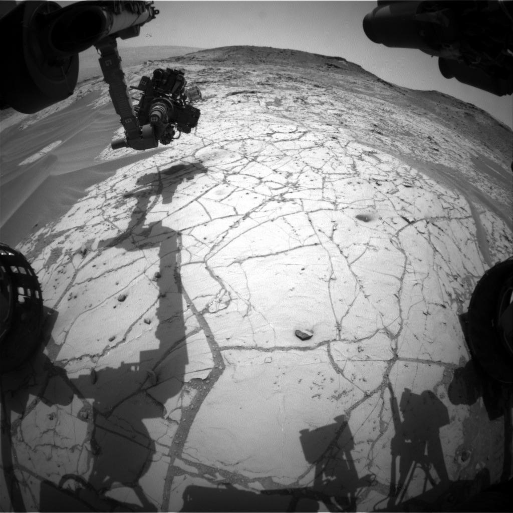 Nasa's Mars rover Curiosity acquired this image using its Front Hazard Avoidance Camera (Front Hazcam) on Sol 770, at drive 1020, site number 42