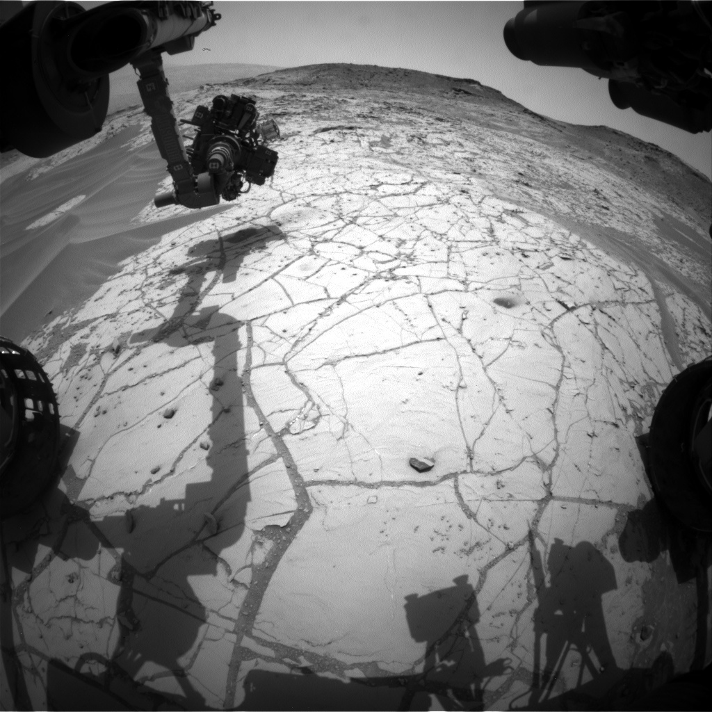 Nasa's Mars rover Curiosity acquired this image using its Front Hazard Avoidance Camera (Front Hazcam) on Sol 771, at drive 1020, site number 42