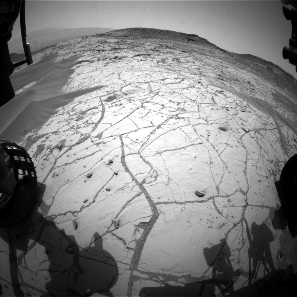 NASA's Mars rover Curiosity acquired this image using its Front Hazard Avoidance Cameras (Front Hazcams) on Sol 773