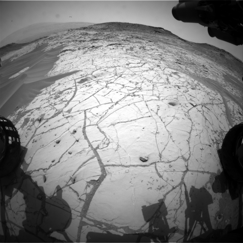 Nasa's Mars rover Curiosity acquired this image using its Front Hazard Avoidance Camera (Front Hazcam) on Sol 773, at drive 1020, site number 42