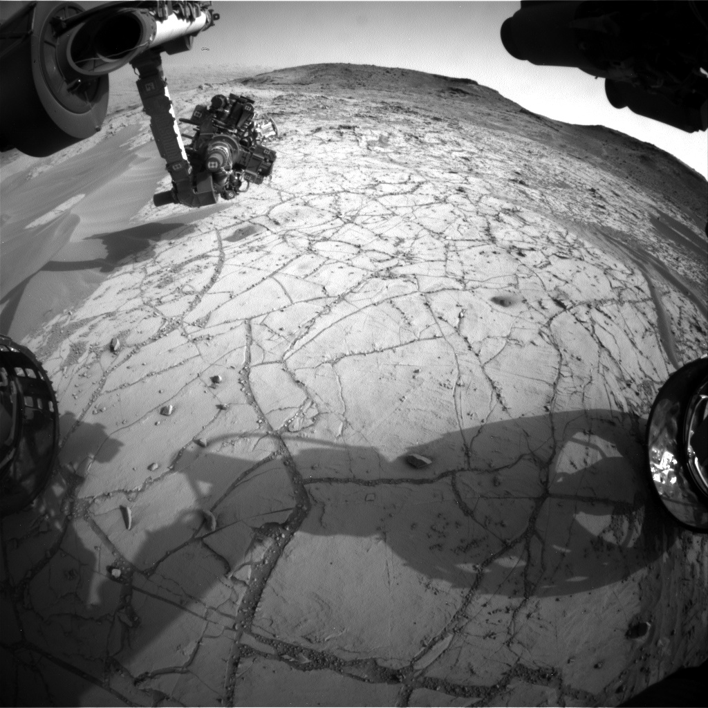 Nasa's Mars rover Curiosity acquired this image using its Front Hazard Avoidance Camera (Front Hazcam) on Sol 775, at drive 1020, site number 42