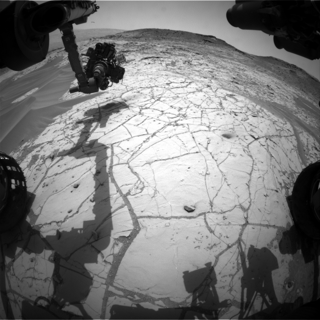 Nasa's Mars rover Curiosity acquired this image using its Front Hazard Avoidance Camera (Front Hazcam) on Sol 776, at drive 1020, site number 42