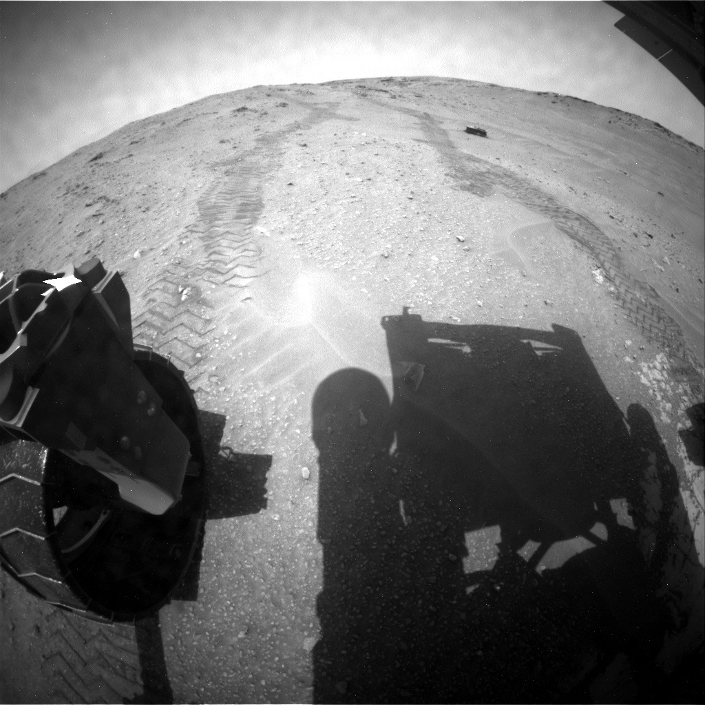 NASA's Mars rover Curiosity acquired this image using its Rear Hazard Avoidance Cameras (Rear Hazcams) on Sol 776
