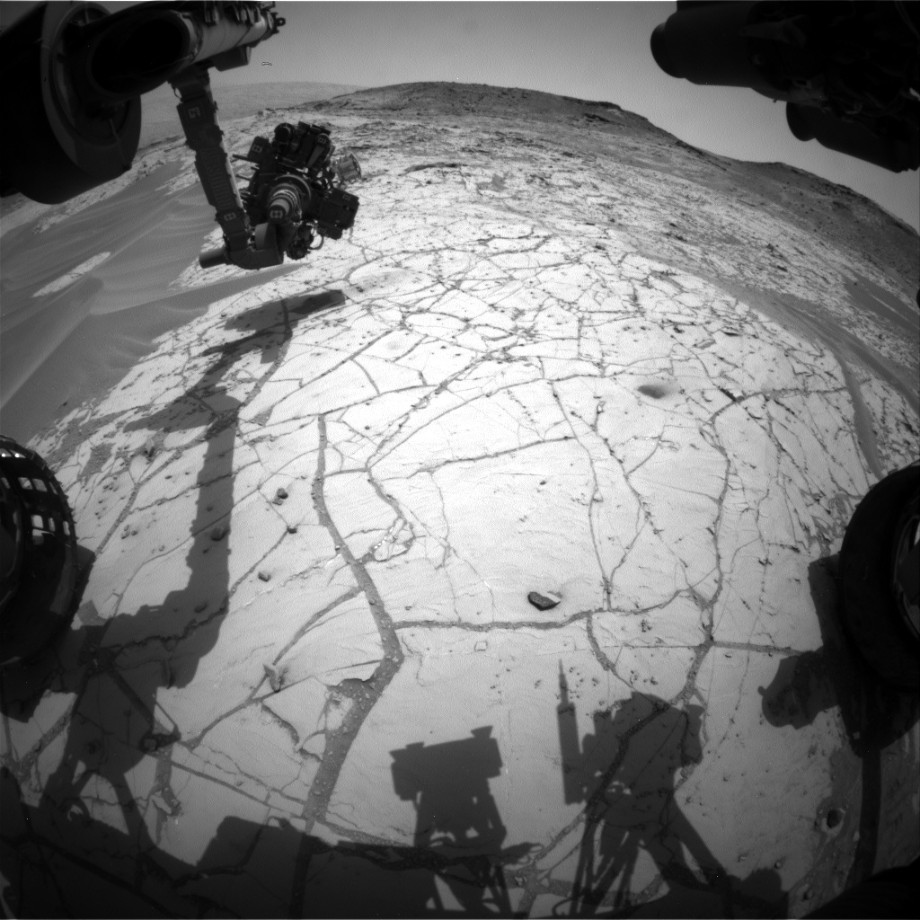 Nasa's Mars rover Curiosity acquired this image using its Front Hazard Avoidance Camera (Front Hazcam) on Sol 777, at drive 0, site number 43