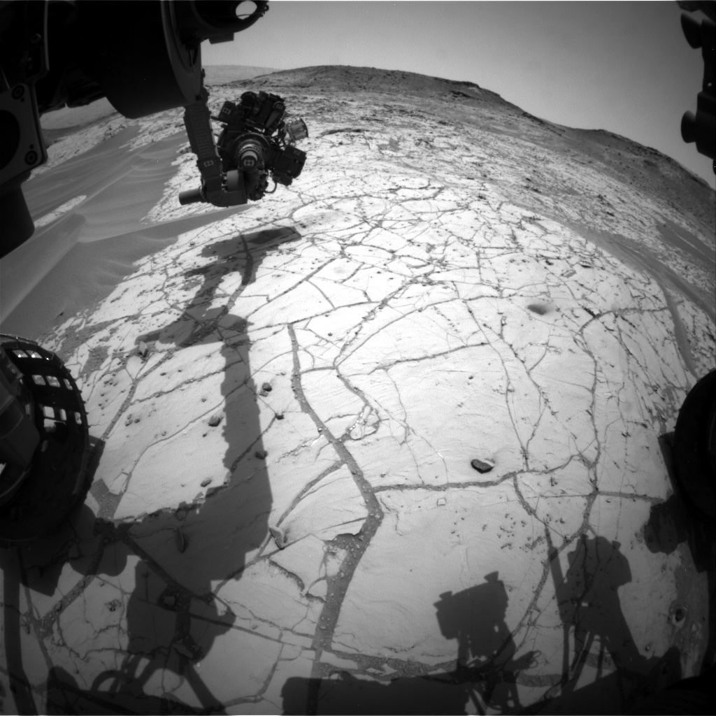 NASA's Mars rover Curiosity acquired this image using its Front Hazard Avoidance Cameras (Front Hazcams) on Sol 778