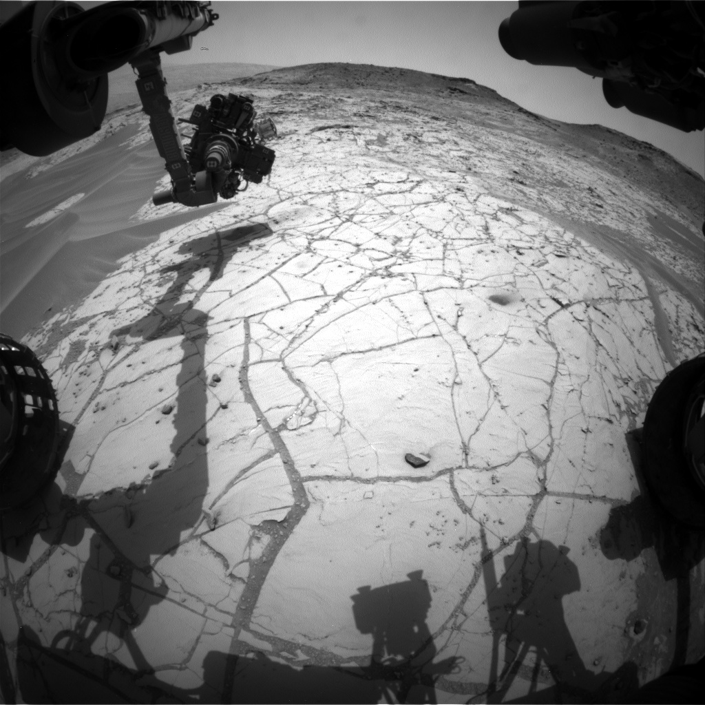 Nasa's Mars rover Curiosity acquired this image using its Front Hazard Avoidance Camera (Front Hazcam) on Sol 778, at drive 0, site number 43