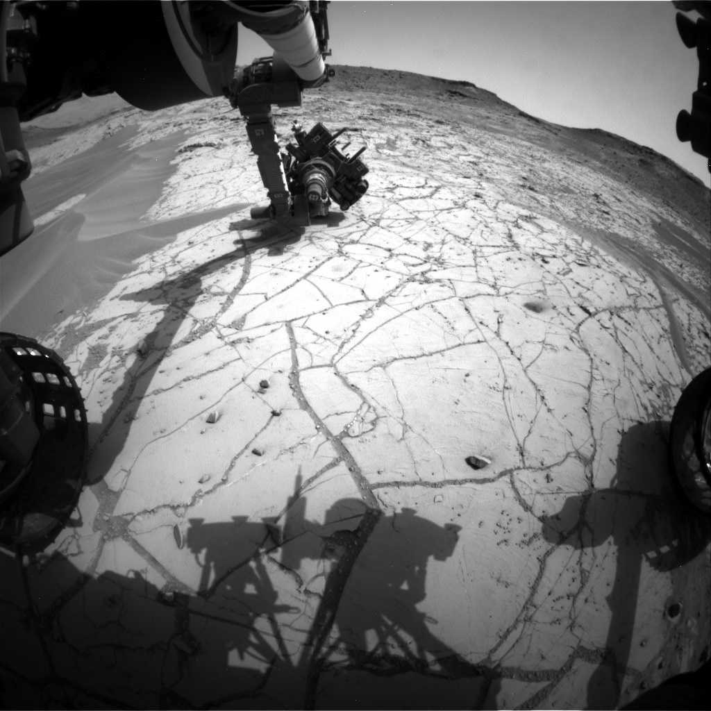 Nasa's Mars rover Curiosity acquired this image using its Front Hazard Avoidance Camera (Front Hazcam) on Sol 779, at drive 0, site number 43