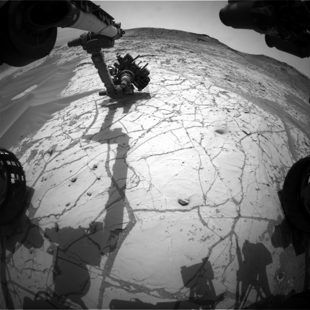 Nasa's Mars rover Curiosity acquired this image using its Front Hazard Avoidance Camera (Front Hazcam) on Sol 780, at drive 0, site number 43