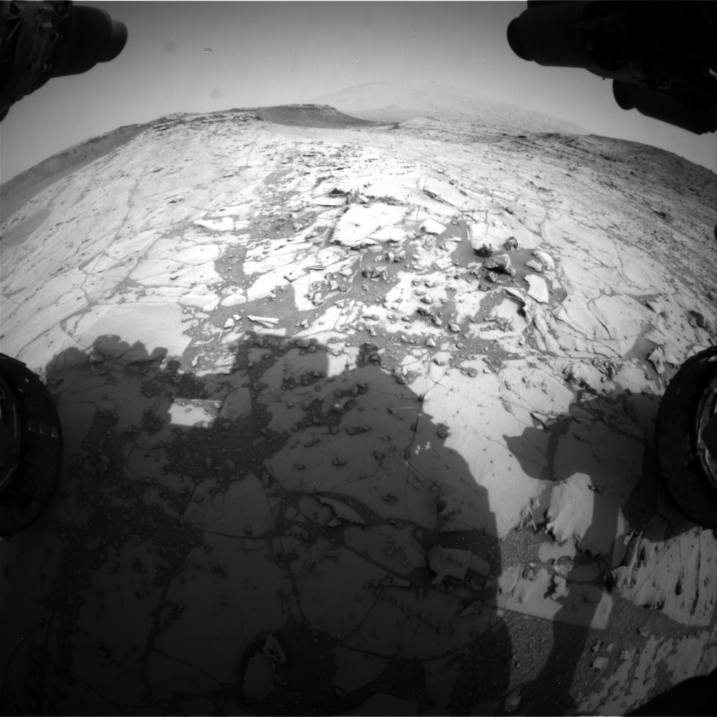 Nasa's Mars rover Curiosity acquired this image using its Front Hazard Avoidance Camera (Front Hazcam) on Sol 780, at drive 216, site number 43