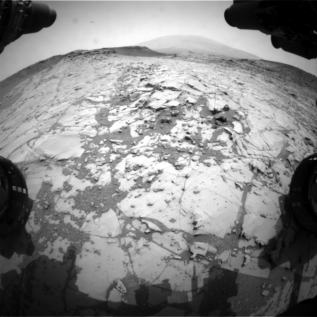 Nasa's Mars rover Curiosity acquired this image using its Front Hazard Avoidance Camera (Front Hazcam) on Sol 781, at drive 216, site number 43