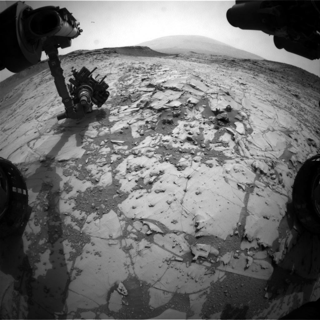 Nasa's Mars rover Curiosity acquired this image using its Front Hazard Avoidance Camera (Front Hazcam) on Sol 782, at drive 216, site number 43