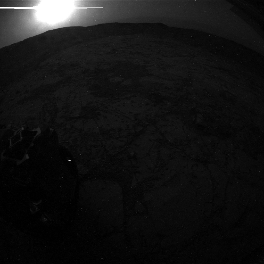 NASA's Mars rover Curiosity acquired this image using its Rear Hazard Avoidance Cameras (Rear Hazcams) on Sol 782