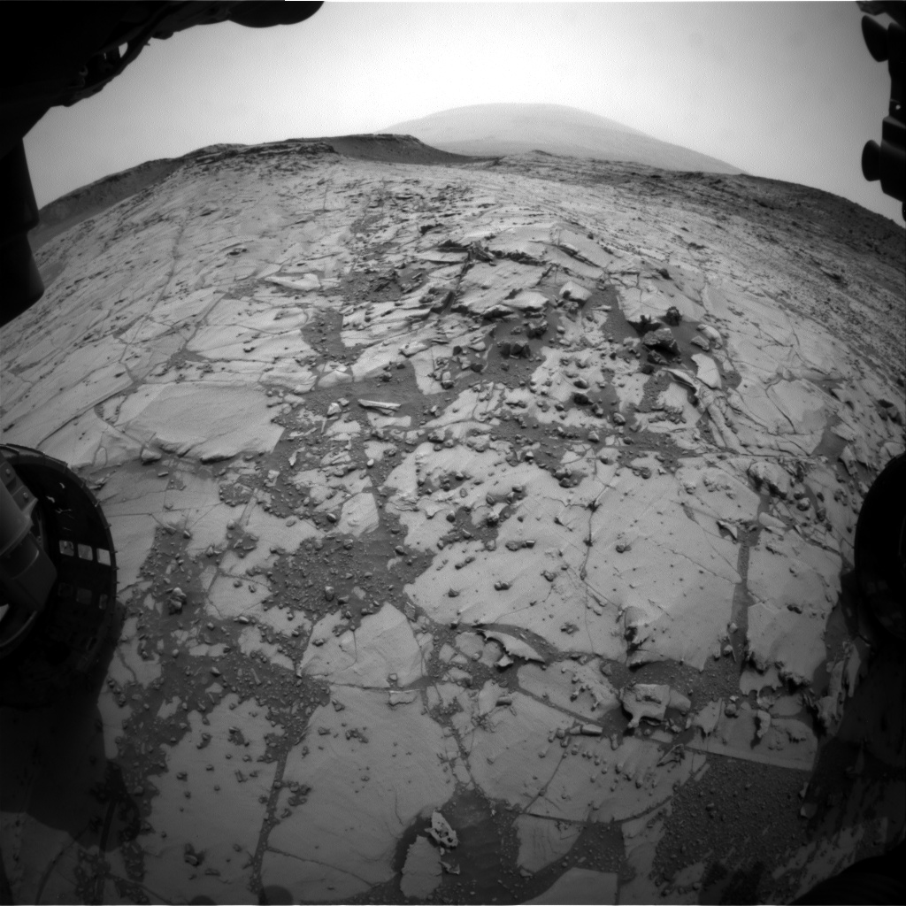 Nasa's Mars rover Curiosity acquired this image using its Front Hazard Avoidance Camera (Front Hazcam) on Sol 784, at drive 0, site number 44