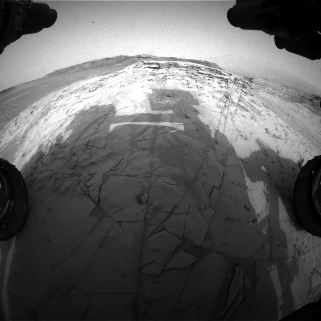 Nasa's Mars rover Curiosity acquired this image using its Front Hazard Avoidance Camera (Front Hazcam) on Sol 785, at drive 36, site number 44