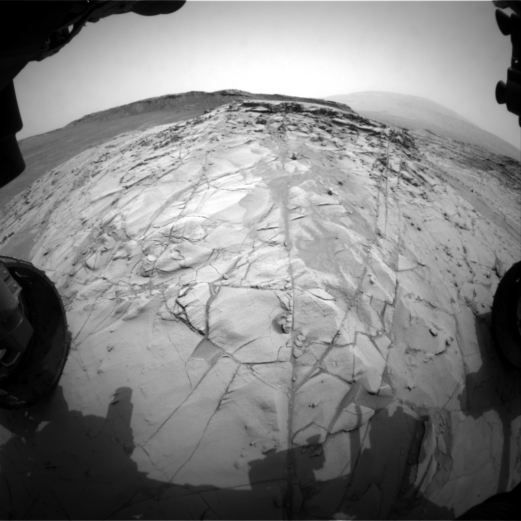 Nasa's Mars rover Curiosity acquired this image using its Front Hazard Avoidance Camera (Front Hazcam) on Sol 787, at drive 36, site number 44