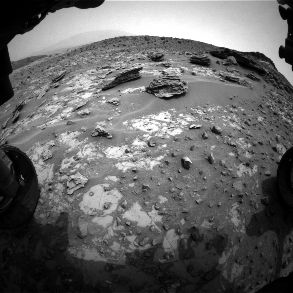 Nasa's Mars rover Curiosity acquired this image using its Front Hazard Avoidance Camera (Front Hazcam) on Sol 797, at drive 568, site number 44