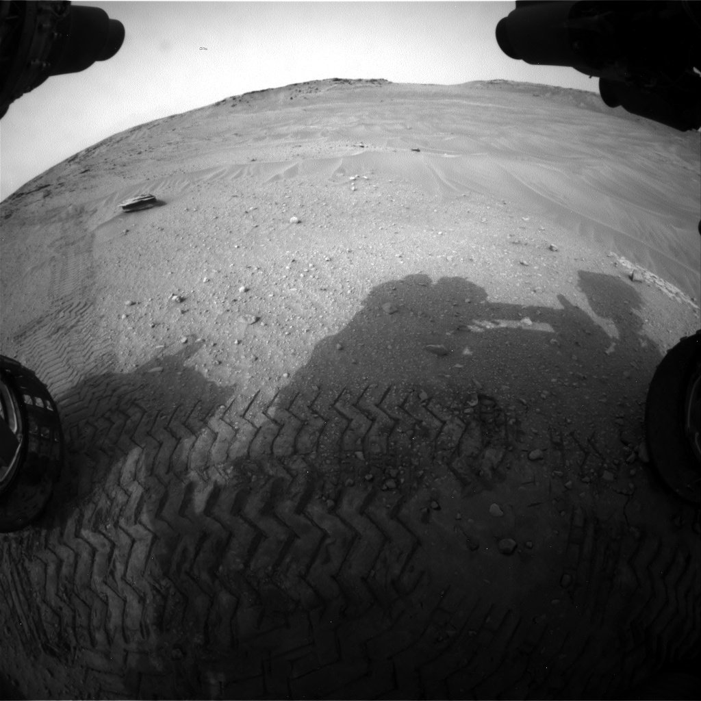 Nasa's Mars rover Curiosity acquired this image using its Front Hazard Avoidance Camera (Front Hazcam) on Sol 797, at drive 920, site number 44