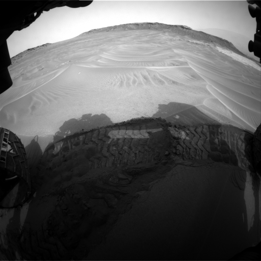 Nasa's Mars rover Curiosity acquired this image using its Front Hazard Avoidance Camera (Front Hazcam) on Sol 799, at drive 1102, site number 44
