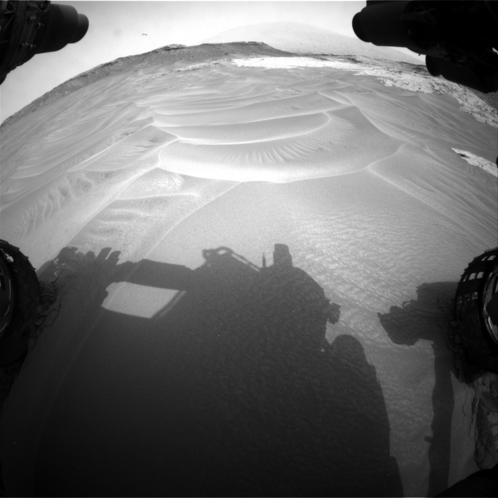 Nasa's Mars rover Curiosity acquired this image using its Front Hazard Avoidance Camera (Front Hazcam) on Sol 799, at drive 1046, site number 44