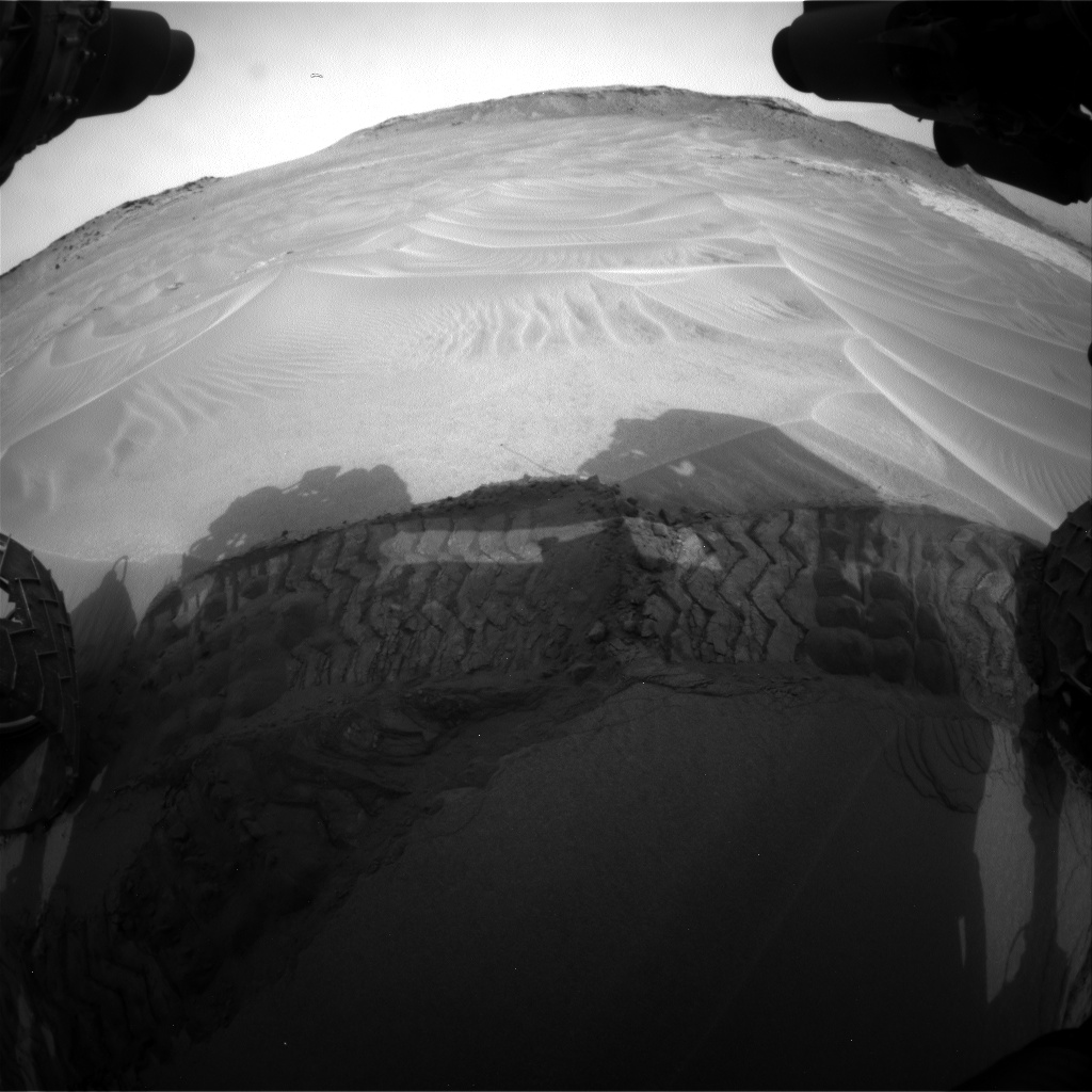 Nasa's Mars rover Curiosity acquired this image using its Front Hazard Avoidance Camera (Front Hazcam) on Sol 799, at drive 1110, site number 44