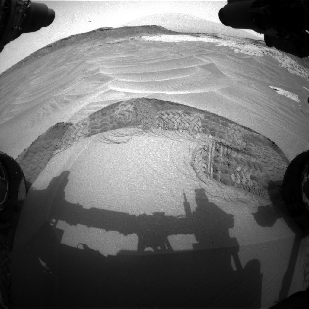 Nasa's Mars rover Curiosity acquired this image using its Front Hazard Avoidance Camera (Front Hazcam) on Sol 801, at drive 1140, site number 44