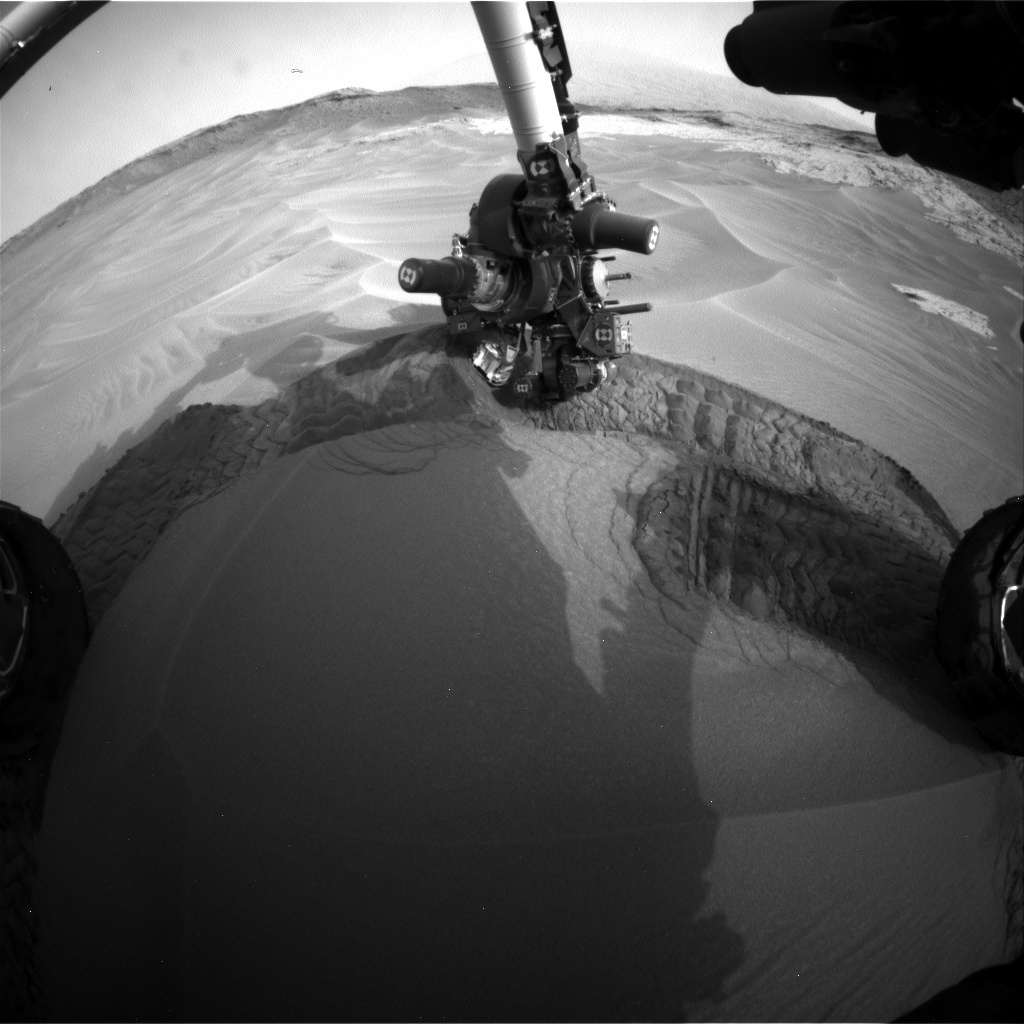 NASA's Mars rover Curiosity acquired this image using its Front Hazard Avoidance Cameras (Front Hazcams) on Sol 801