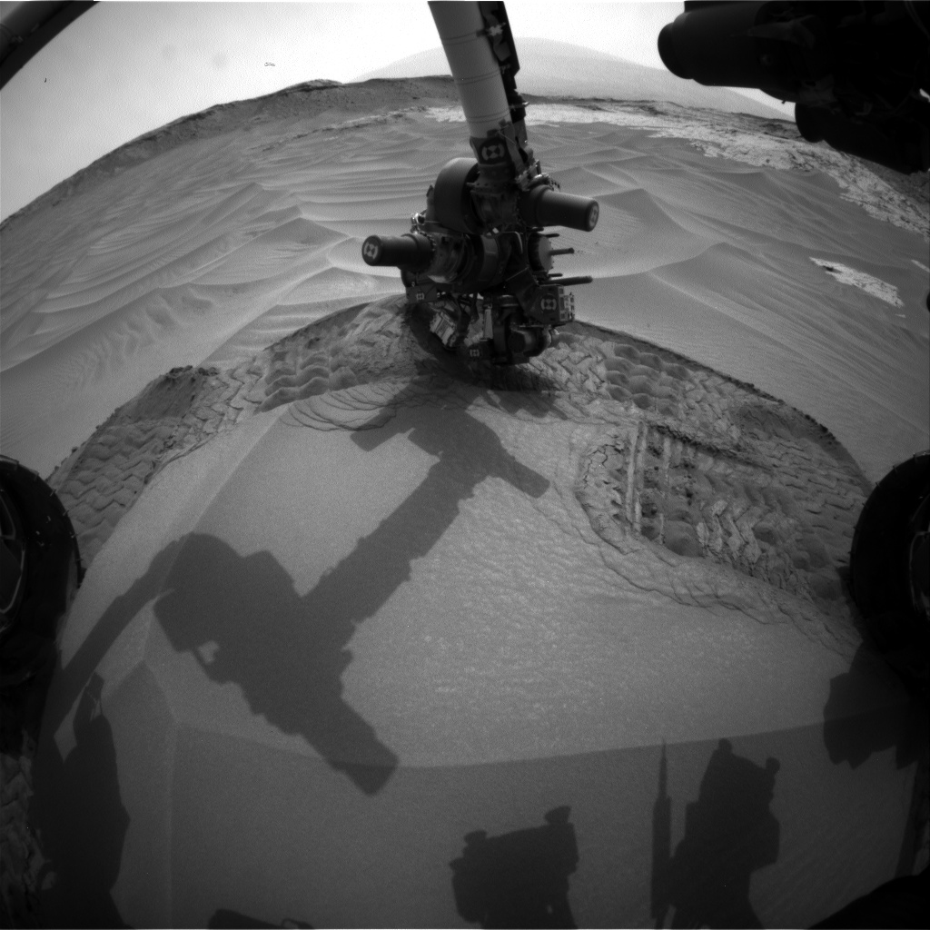 Nasa's Mars rover Curiosity acquired this image using its Front Hazard Avoidance Camera (Front Hazcam) on Sol 802, at drive 1140, site number 44