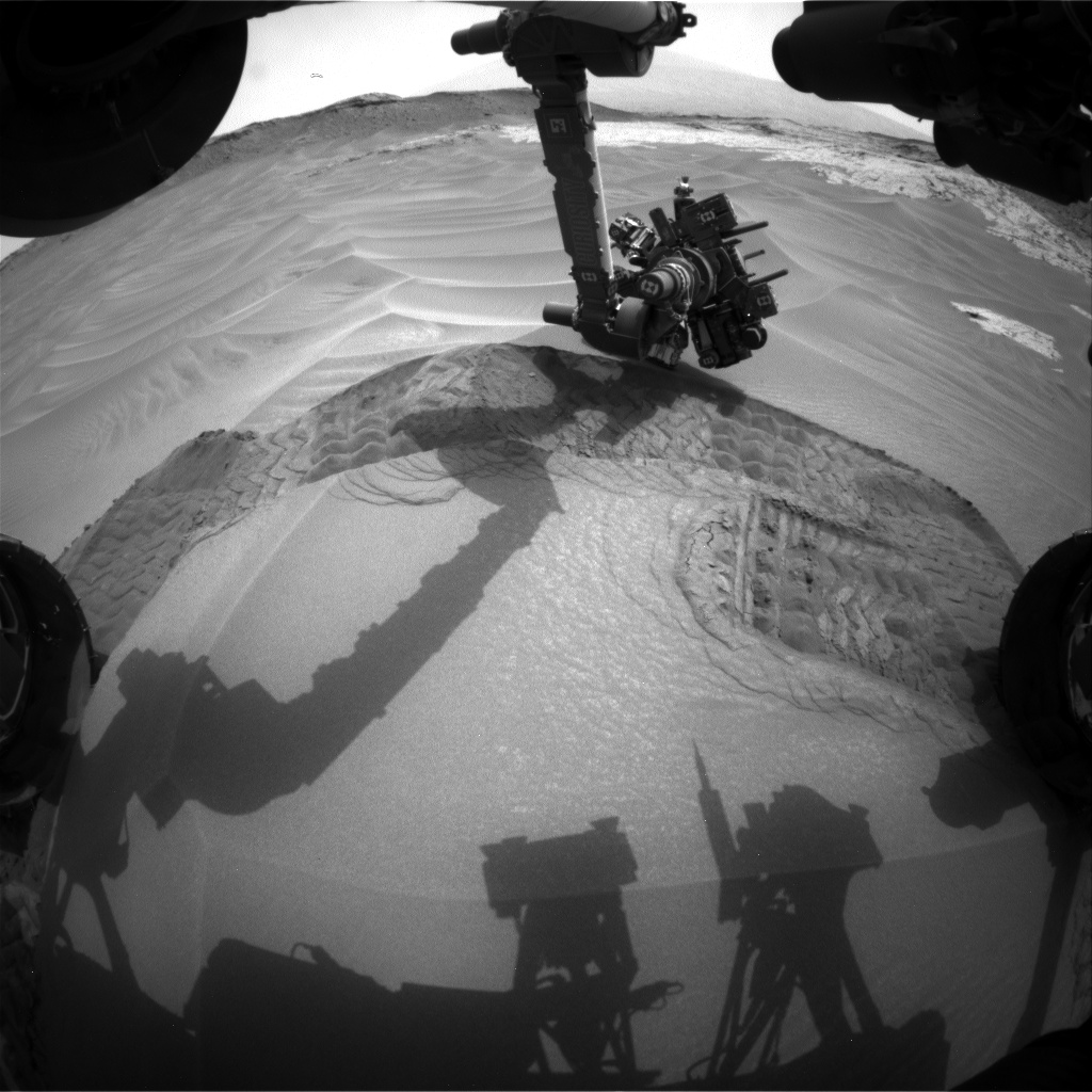 Nasa's Mars rover Curiosity acquired this image using its Front Hazard Avoidance Camera (Front Hazcam) on Sol 803, at drive 1140, site number 44