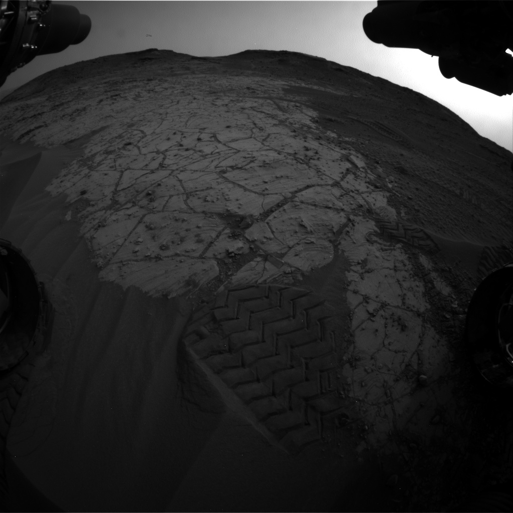Nasa's Mars rover Curiosity acquired this image using its Front Hazard Avoidance Camera (Front Hazcam) on Sol 803, at drive 1282, site number 44
