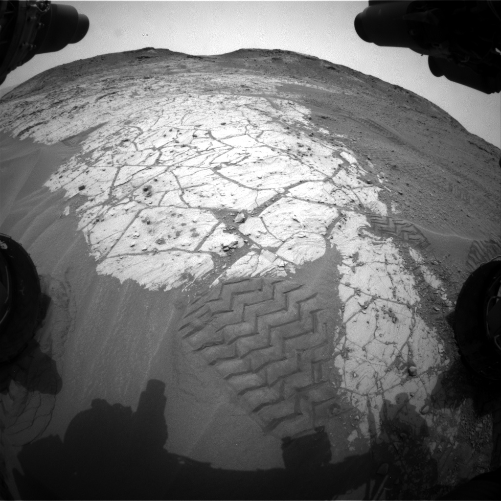 Nasa's Mars rover Curiosity acquired this image using its Front Hazard Avoidance Camera (Front Hazcam) on Sol 804, at drive 1282, site number 44