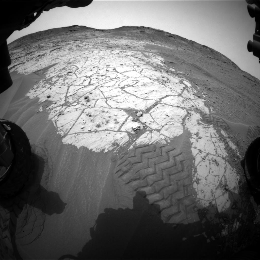 Nasa's Mars rover Curiosity acquired this image using its Front Hazard Avoidance Camera (Front Hazcam) on Sol 805, at drive 1282, site number 44