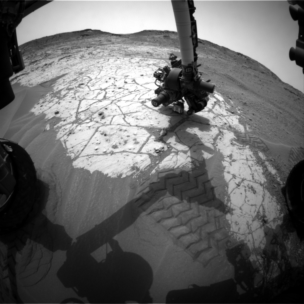 Nasa's Mars rover Curiosity acquired this image using its Front Hazard Avoidance Camera (Front Hazcam) on Sol 807, at drive 1282, site number 44