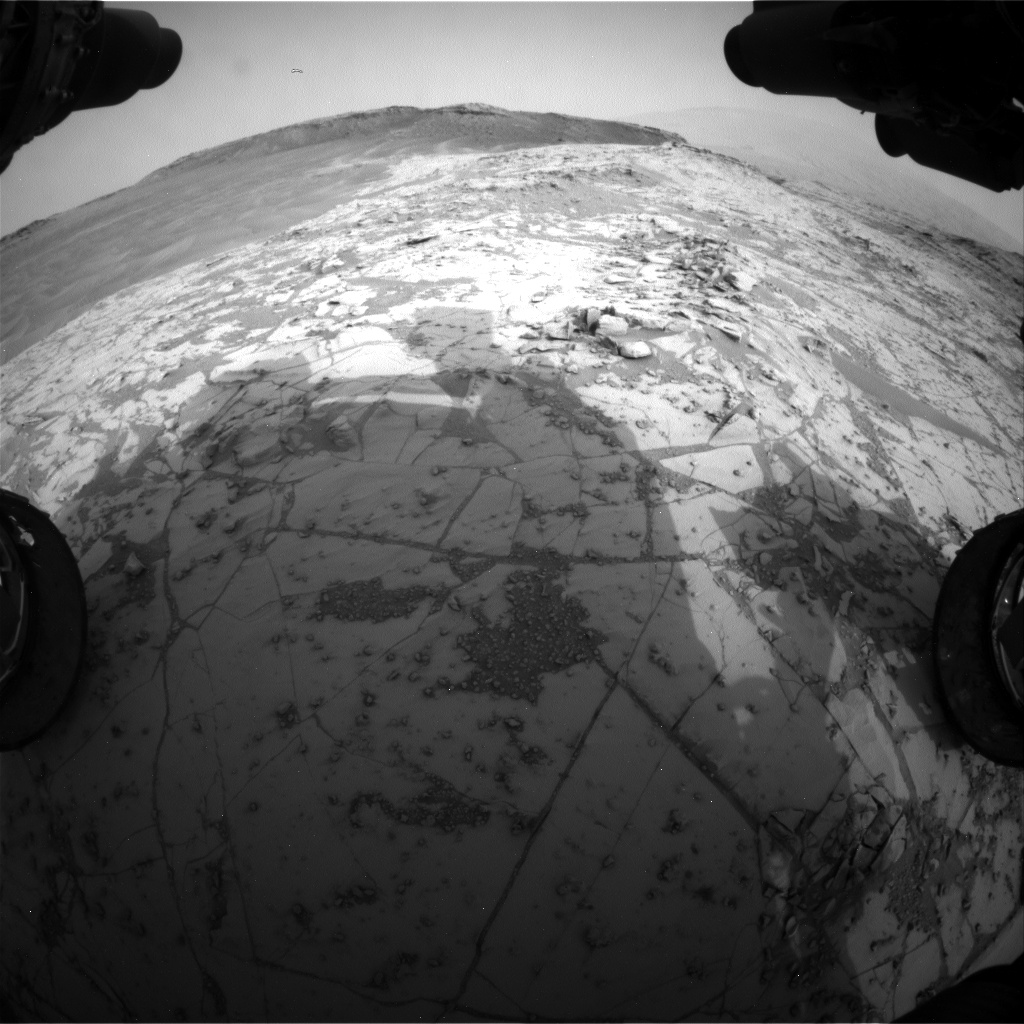 Nasa's Mars rover Curiosity acquired this image using its Front Hazard Avoidance Camera (Front Hazcam) on Sol 807, at drive 1432, site number 44