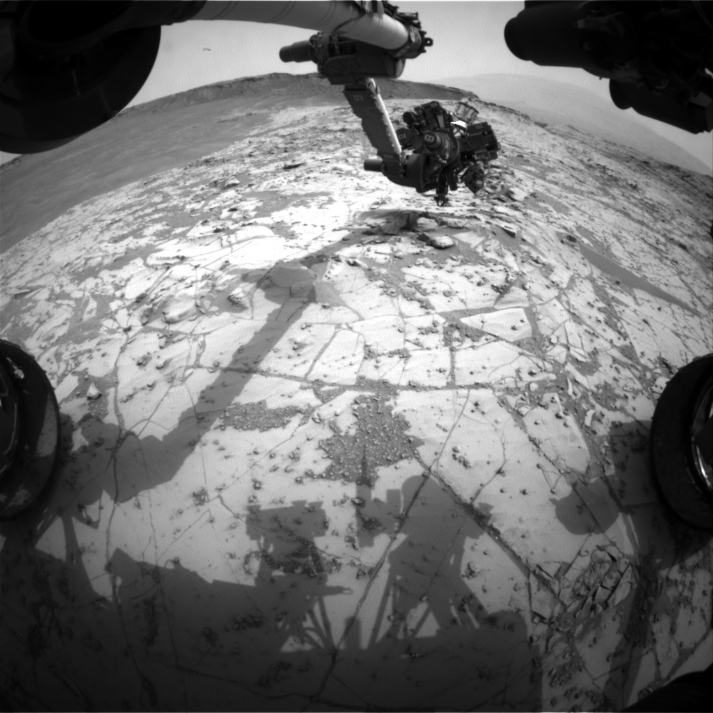 Nasa's Mars rover Curiosity acquired this image using its Front Hazard Avoidance Camera (Front Hazcam) on Sol 808, at drive 1432, site number 44