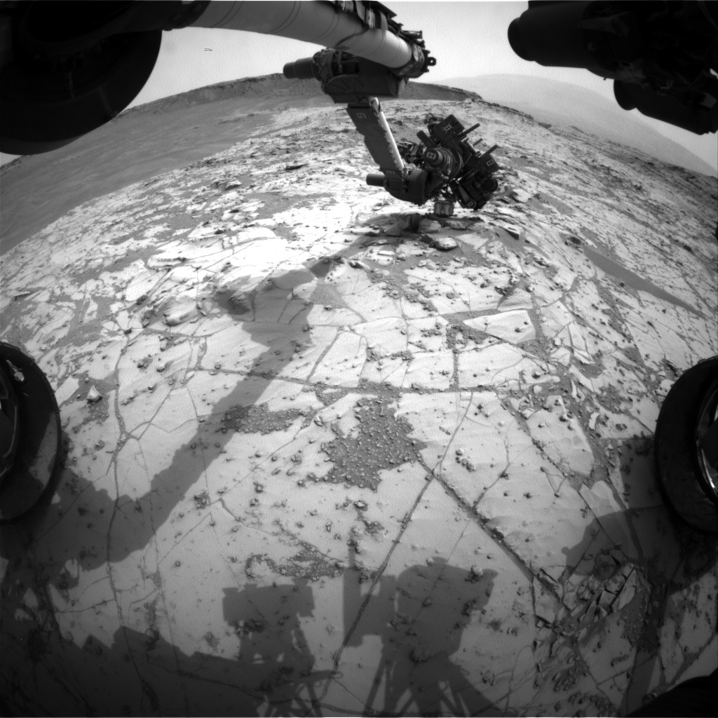 Nasa's Mars rover Curiosity acquired this image using its Front Hazard Avoidance Camera (Front Hazcam) on Sol 809, at drive 1432, site number 44