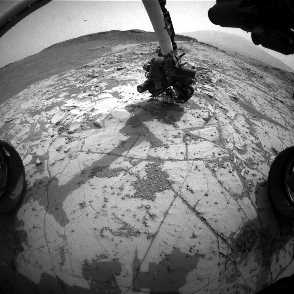 Nasa's Mars rover Curiosity acquired this image using its Front Hazard Avoidance Camera (Front Hazcam) on Sol 811, at drive 1432, site number 44