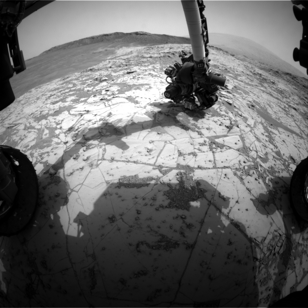 Nasa's Mars rover Curiosity acquired this image using its Front Hazard Avoidance Camera (Front Hazcam) on Sol 812, at drive 1432, site number 44